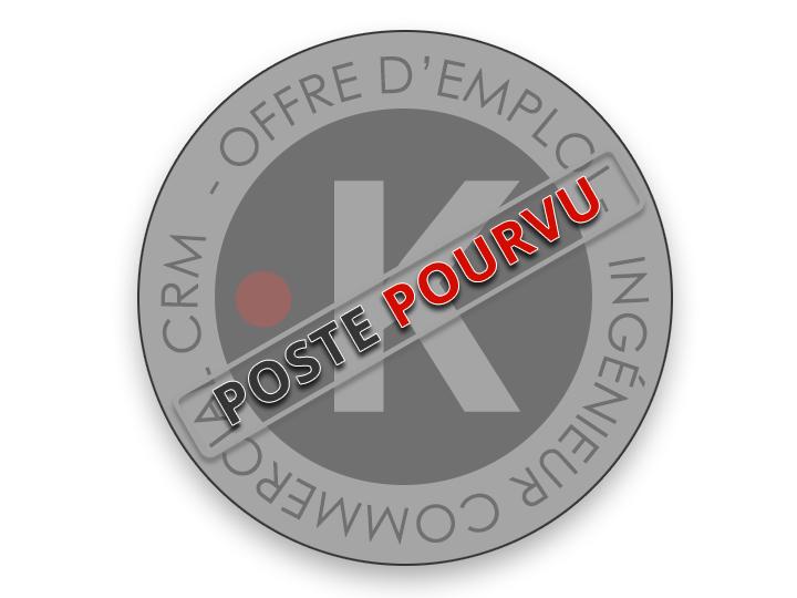 OFFRE D'EMPLOI INGÉNIEUR COMMERCIAL CRM (H/F)